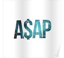 ASAP A$AP LIGHT BLUE TEAL CRAB NEBULA  Poster