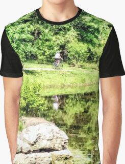 Bicycling by the Lake Graphic T-Shirt