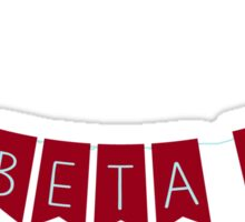 Pi Beta Phi Banner Sticker