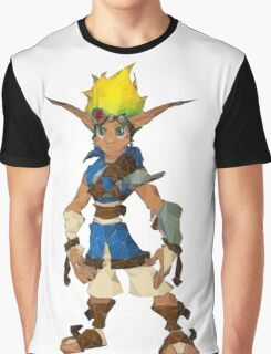 Jak Low poly White lines version  Graphic T-Shirt