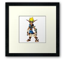Jak Low poly White lines version  Framed Print