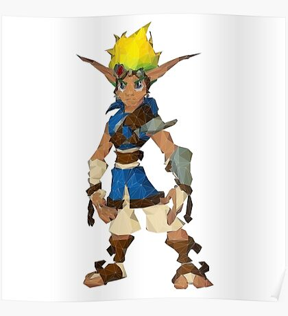 Jak Low poly White lines version  Poster