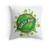Earth Day Throw Pillow