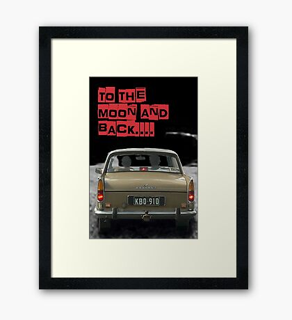 to the moon and back....  Framed Print