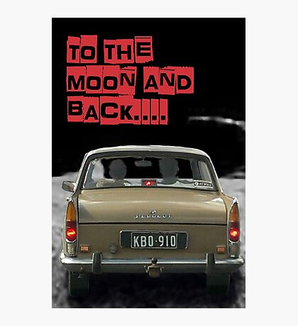 to the moon and back....  Photographic Print