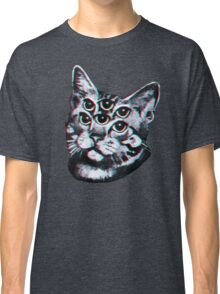 Psychedelic Cat (3D vintage effect) Classic T-Shirt