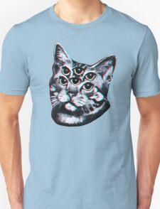 Psychedelic Cat (3D vintage effect) Unisex T-Shirt
