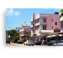 Miami Beach - Art Deco Canvas Print