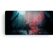 Kylo Ren and Vader's Mask Canvas Print
