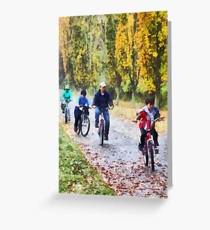 Family Bike Ride Greeting Card