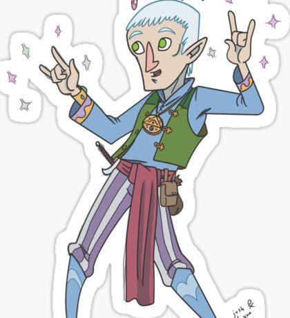Elf Male Sorcerer  Sticker