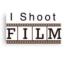 I shoot film Canvas Print