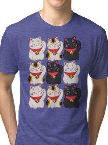 Beckoning Cat Tri-blend T-Shirt
