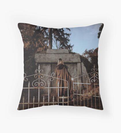 Cemetary Gates Throw Pillow