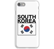 South Korea Flag and type iPhone Case/Skin