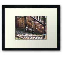 Folding Bicycle Antigua Framed Print