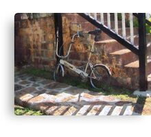 Folding Bicycle Antigua Canvas Print