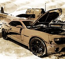 Vintage War Plane and Chevy Camaro by Michael Moriarty