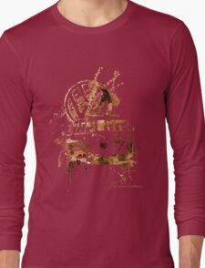 Volkswagen Kombi Splash Sepia © Long Sleeve T-Shirt