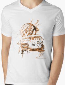 Volkswagen Kombi Splash Sepia © Mens V-Neck T-Shirt