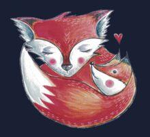 Fox Love Watercolor Kids Tee