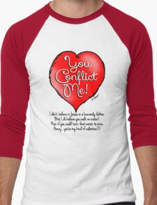 Nonbeliever's Valentine Men's Baseball ¾ T-Shirt