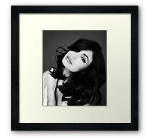 Kylie Jenner Eyeliner Framed Print