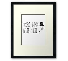 Sailor Moon x Tuxedo Mask (Handwritten) Framed Print