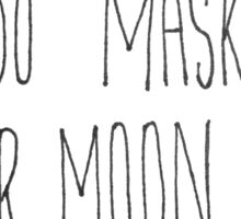 Sailor Moon x Tuxedo Mask (Handwritten) Sticker