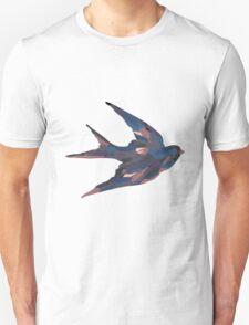 Painting Bird Blue T-Shirt