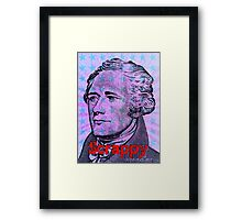 Hamilton on Broadway - Scrappy Framed Print