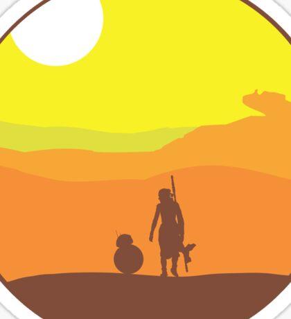 Rey on Jakku - Minimal  Sticker