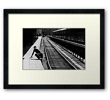 Crossing Tracks Framed Print