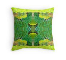 Green by Stephanie Burns Throw Pillow