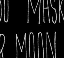 Sailor Moon x Tuxedo Mask (Handwritten) in Black Sticker