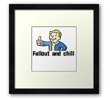 Fallout and Chill Framed Print