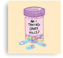 Crazy Pills Zoolander sprinkles weird pills tumblr meme print Canvas Print