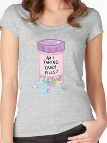 Crazy Pills Zoolander sprinkles weird pills tumblr meme print Women's Fitted Scoop T-Shirt
