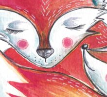 Fox Love Watercolor Sticker