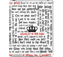 Ron Weasley Quotes iPad Case/Skin