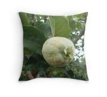 fluffy pear Throw Pillow