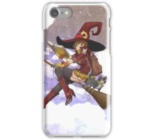 Red Witch W/ background iPhone Case/Skin