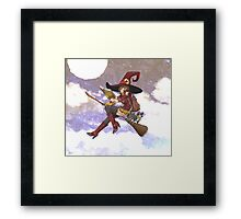 Red Witch W/ background Framed Print