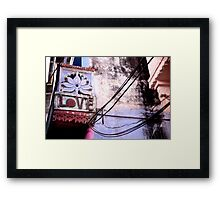 Love from India Framed Print