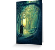 Kiss in the Emerald Graves Greeting Card