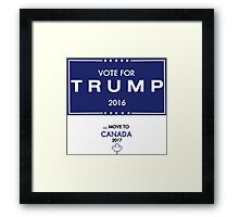 Trump Canada Shirt Framed Print