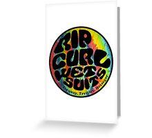 RipCurl Tiedye Greeting Card