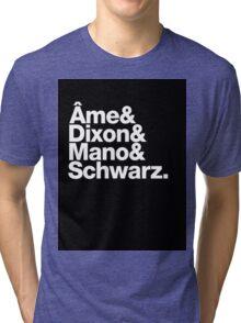 Ame & Dixon & Mano & Schwarz. Tri-blend T-Shirt