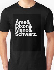 Ame & Dixon & Mano & Schwarz. T-Shirt