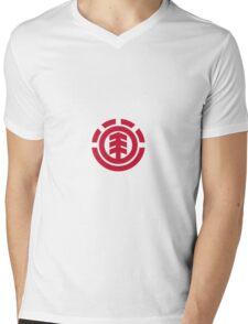 Element - Red Mens V-Neck T-Shirt